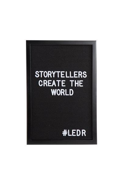 Letterboard All Black L