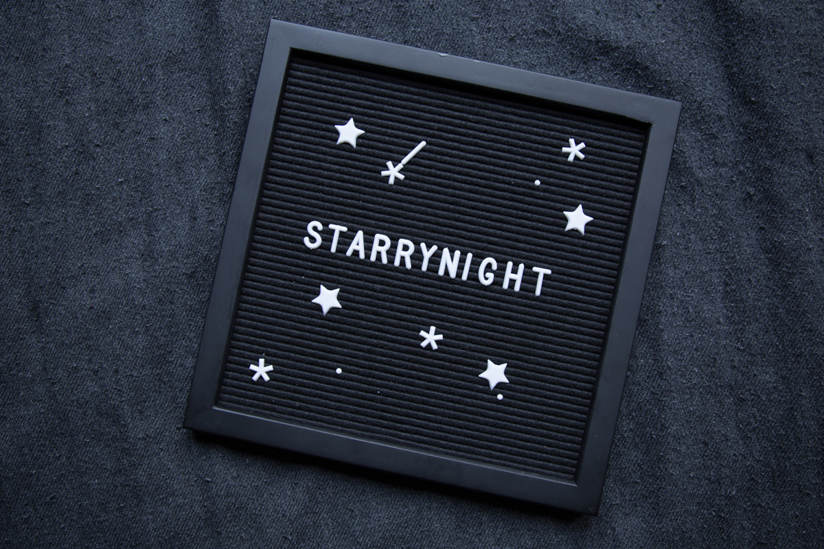Letterboard All Black 30 x 30 cm-3