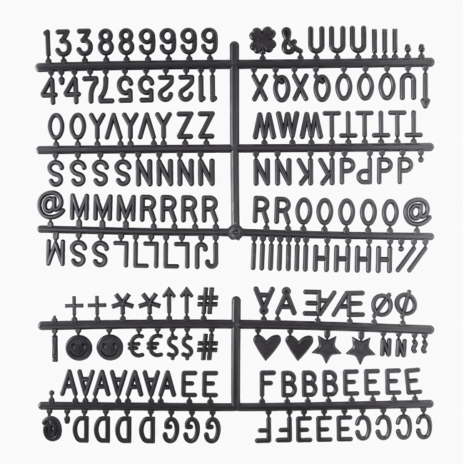 Letter Board wei§ 30 x 30 cm-6