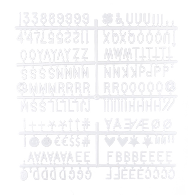 Letterboard Grijs 30 x 30 cm-7