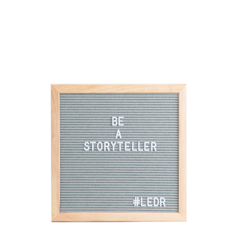 Letterboard Grijs 30 x 30 cm-1