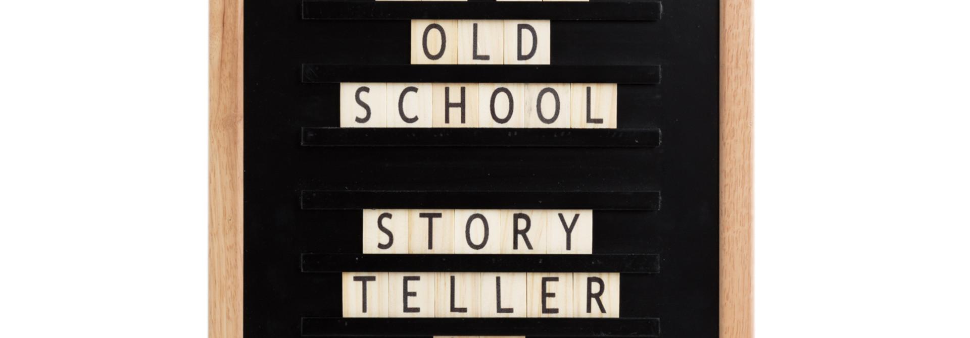 Oldschool Letterboard Black