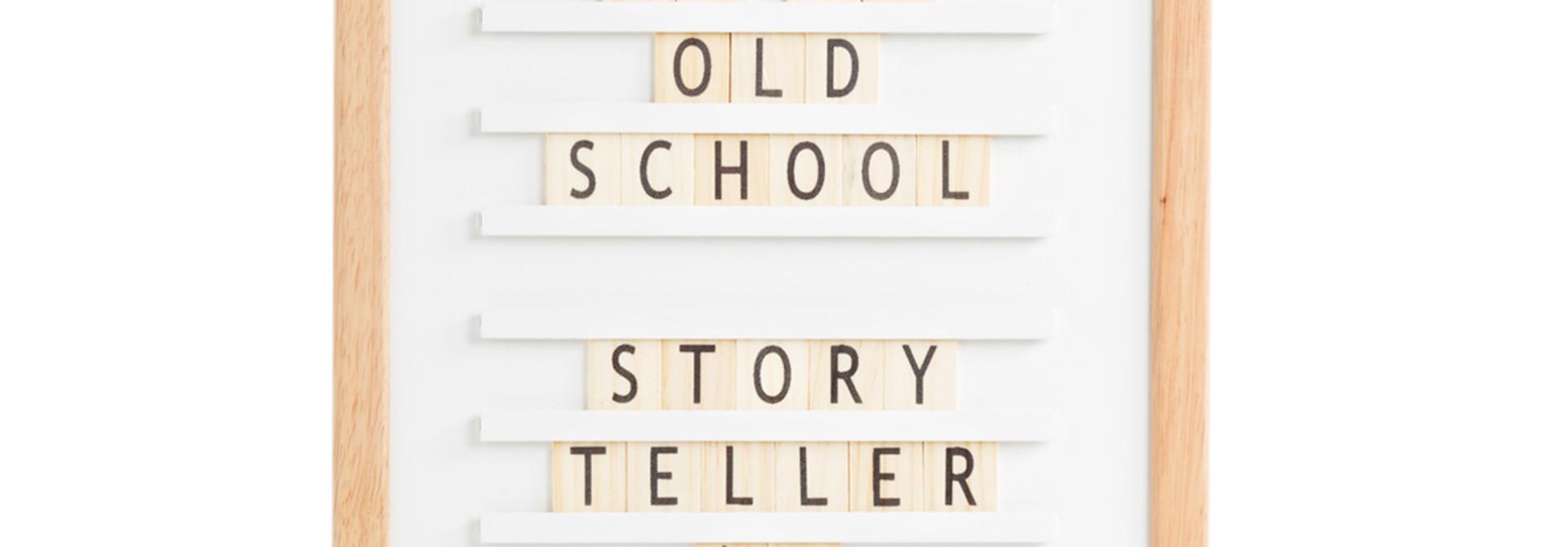 Oldschool Letterboard Wit