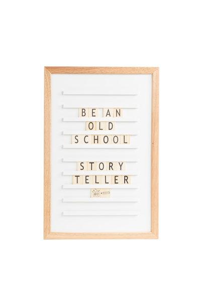 Oldschool Letter Board wei§