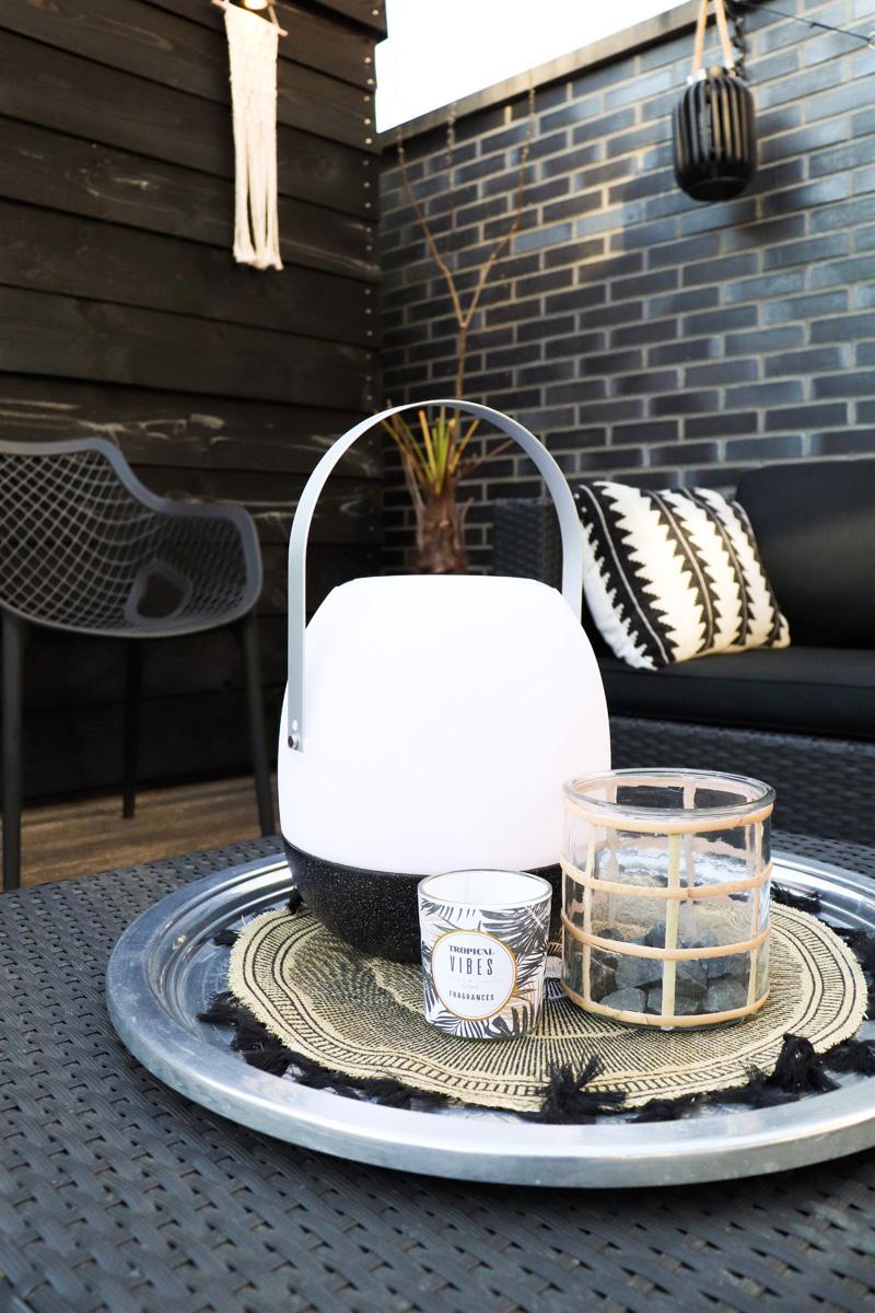 Tischlampe im Freien Pine + Lautsprecher Schwarz-3