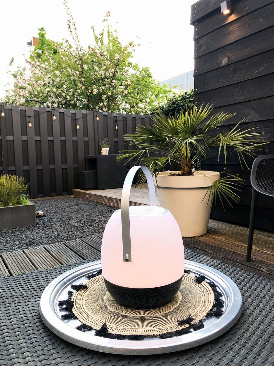 Tischlampe im Freien Pine + Lautsprecher Schwarz-2