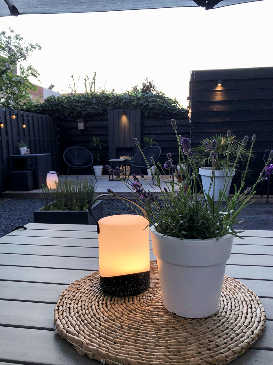 Outdoor Table Lamp Mabe + Speaker Black-5