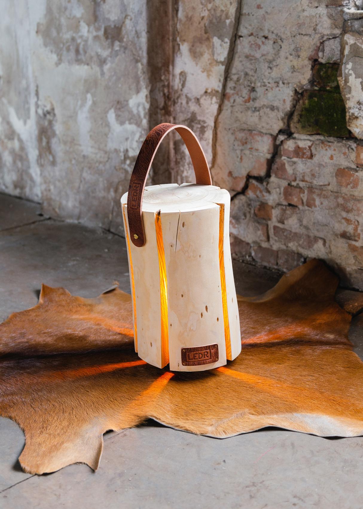 Wood Light - Cherry Wood M || Leather edition-2