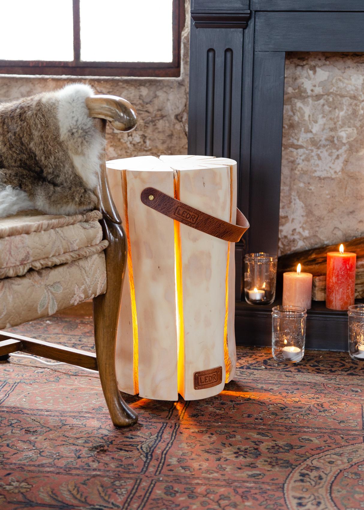 Wood Light - Cherry Wood M || Leather edition-8