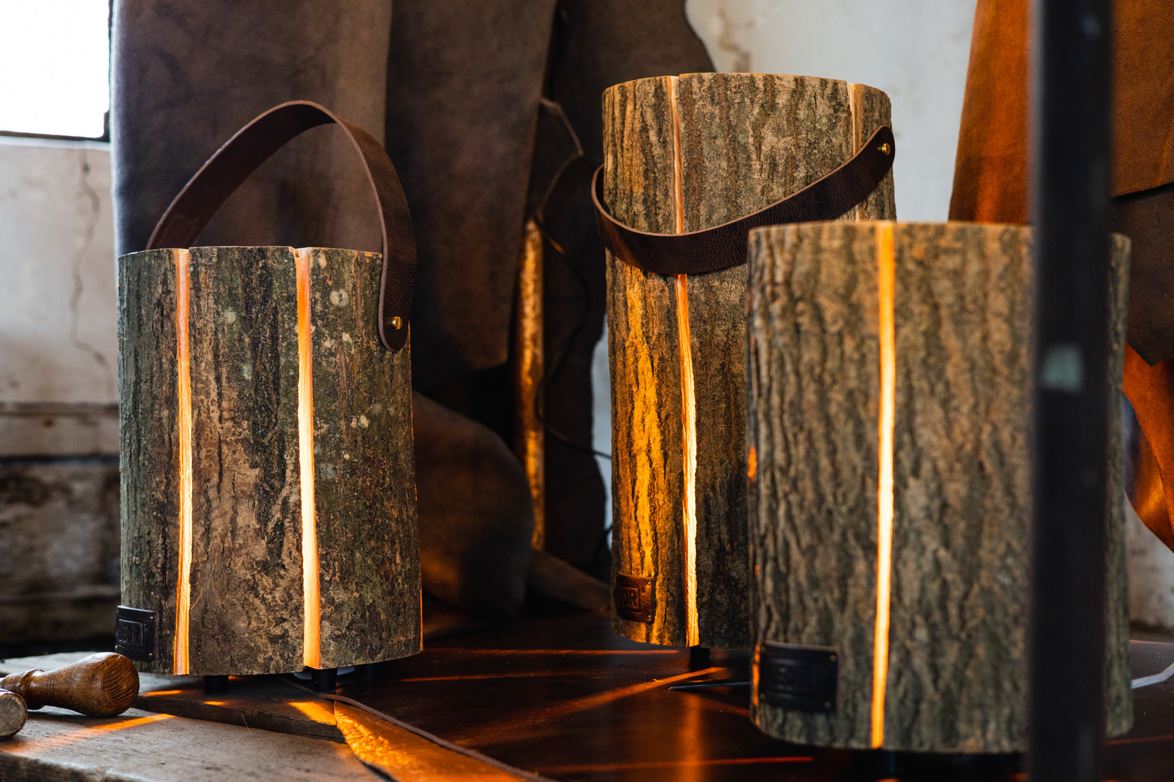 Wood Light - Ash Wood M || Leather edition-6