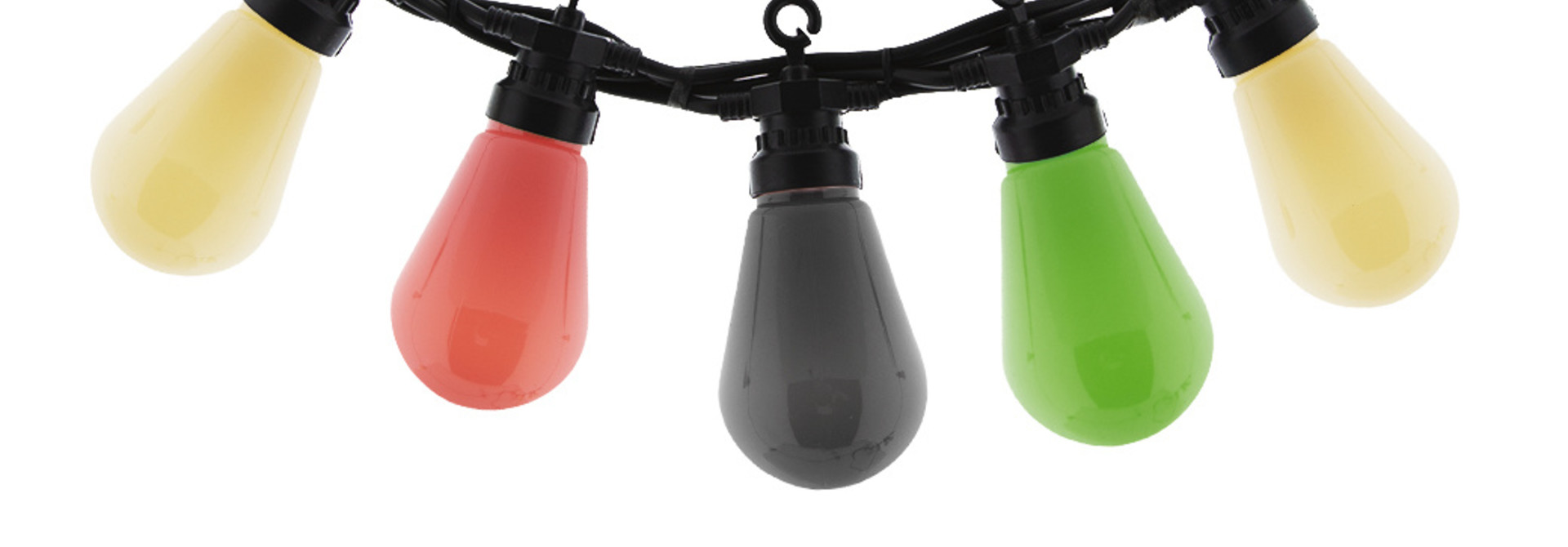 Regular Edison Bulbs Patio Lichterkette - Brink Pink