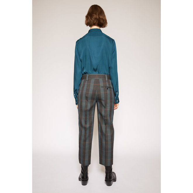 ACNE STUDIOS STR02 CHECK SUITING BLUE/ORANGE