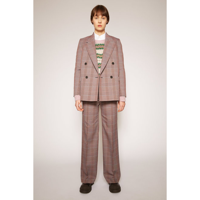 ACNE STUDIOS PAMINNE CHECK SUITING PINK/PURPLE