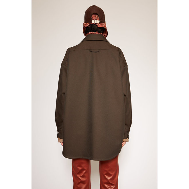 ACNE STUDIOS SHANELLE WORKWEAR TWILL CHESTNUT BROWN