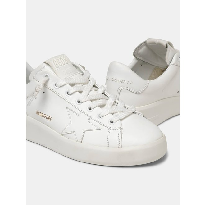 GOLDEN GOOSE SNEAKERS PURE STAR WHITE LEATHER