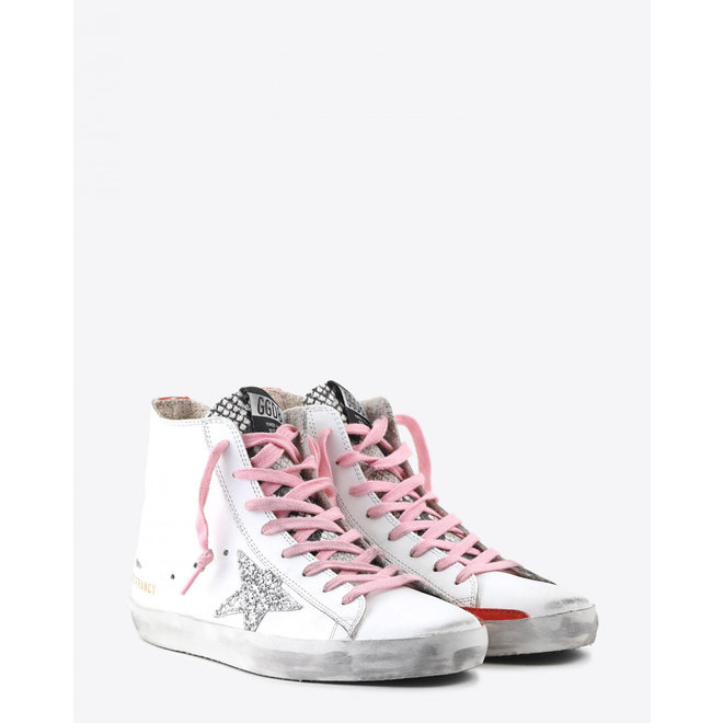 GOLDEN GOOSE SNEAKERS FRANCY WHITE LEATHER