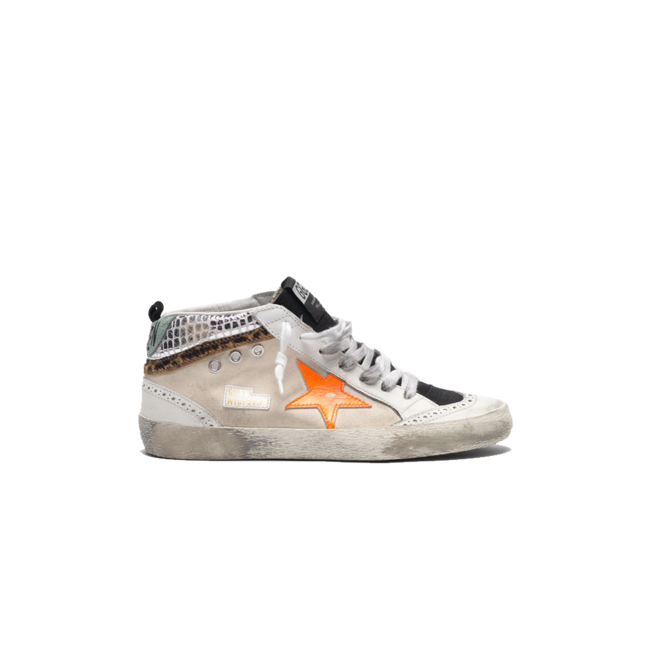 GOLDEN GOOSE MID STAR WHITE BLACK