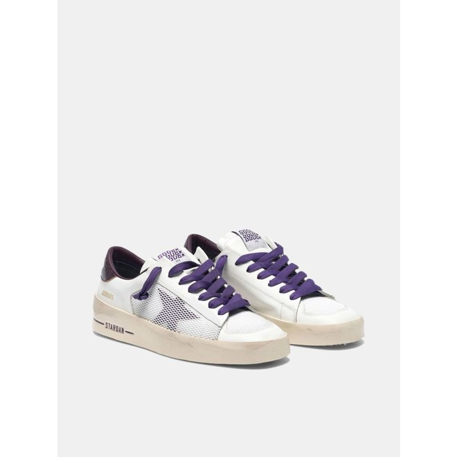 GOLDEN GOOSE STARDAN WHITE PURPLE