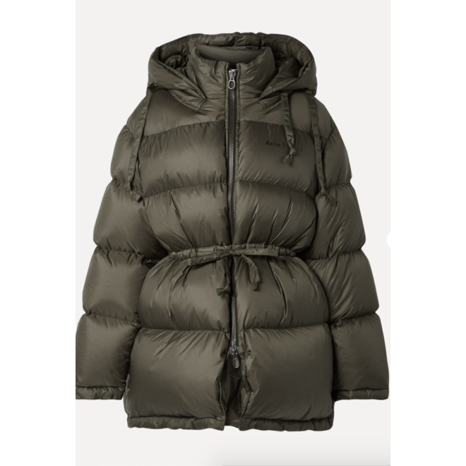 ACNE STUDIOS DOWN JACKET FOREST GREEN