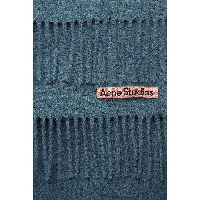 ACNE STUDIOS SCARF CANADA NEW DUSTY BLUE MELANGE