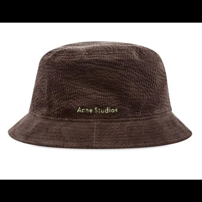 ACNE STUDIOS BRUN CORD BUCKET HAT COFFEE BROWN