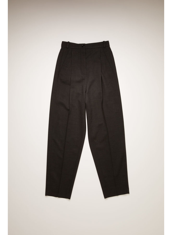 ACNE STUDIOS TAPERED WOOL-BLEND TROUSERS CHARCOAL GREY