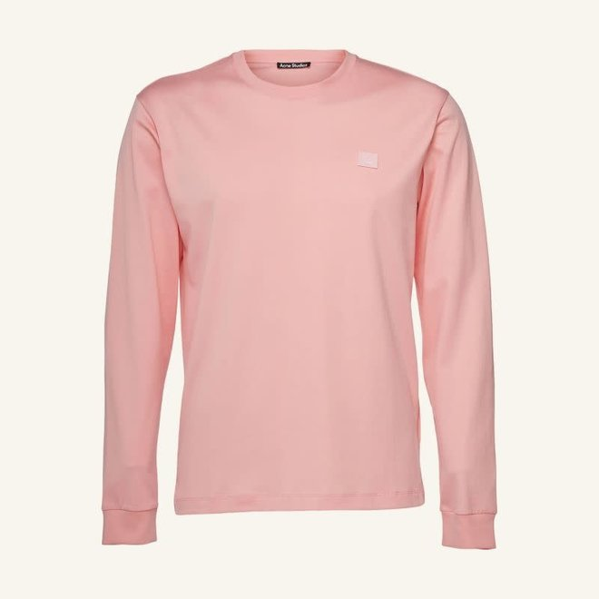 ACNE STUDIOS LONG SLEEVE T-SHIRT BLUSH PINK