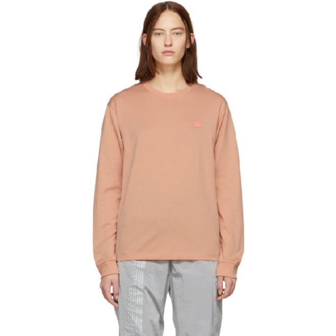 ACNE STUDIOS  LONG SLEEVED T-SHIRT PALE PINK