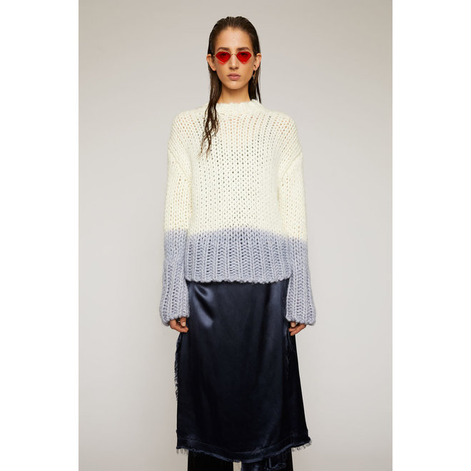 ACNE STUDIOS DIP-DYED SWEATER OFF WHITE
