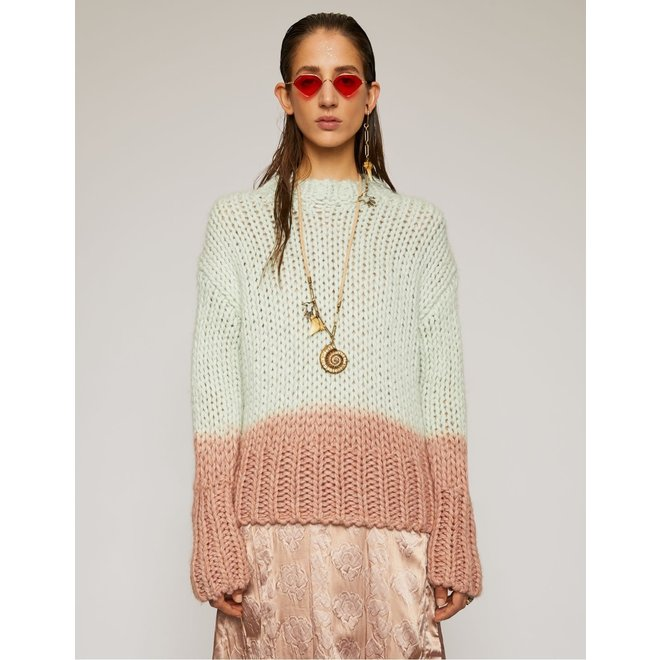 ACNE STUDIOS DIP-DYED SWEATER PASTEL GREEN