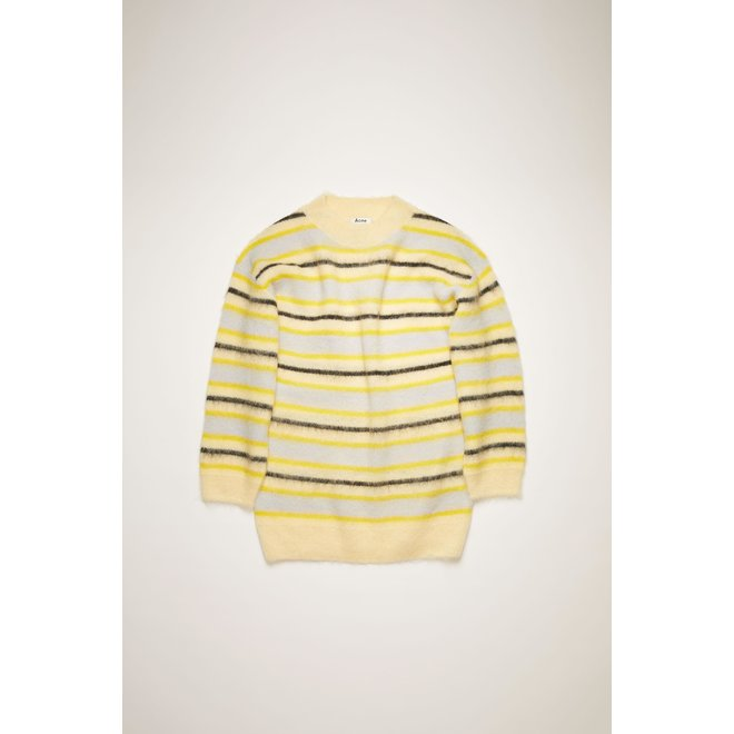 ACNE STUDIOS MOCKNECK SWEATER YELLOW/MULTI