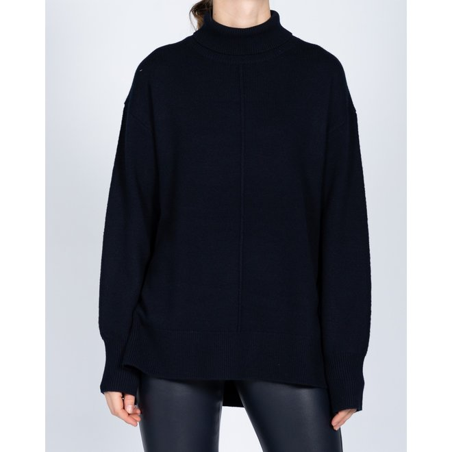JOSEPH HIGH NK-SOFT WOOL NAVY