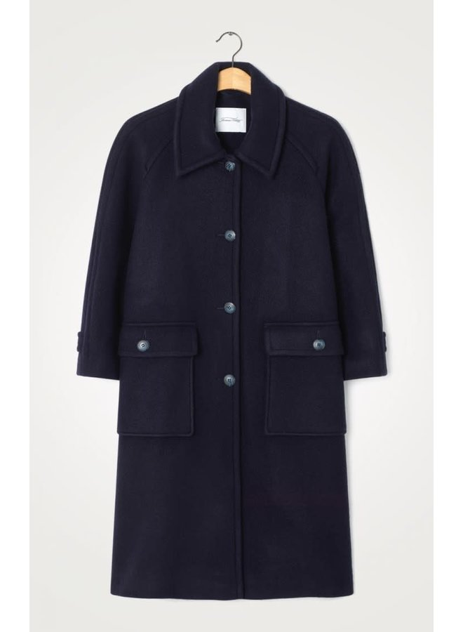 AMERICAN VINTAGE MANTEAU MANCHES 7/8 NAVY