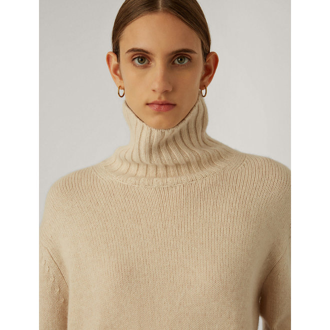 JOSEPH  HIGH NK LS-LUXE CASHMERE IVORY M