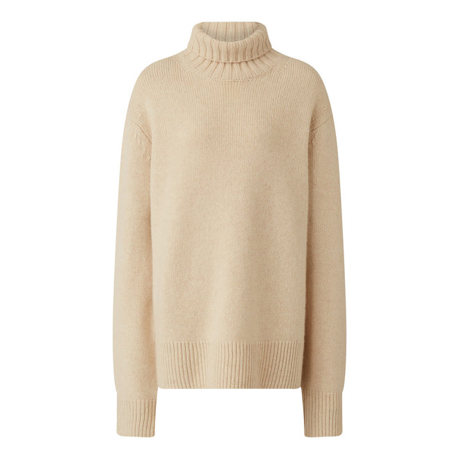 JOSEPH  HIGH NK LS-LUXE CASHMERE IVORY L