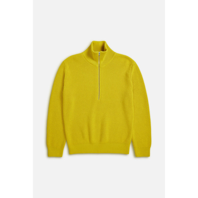 CLOSED ZIPPED JUMPER CHARTREUSE YELLOW