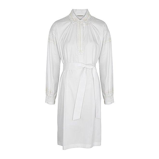 DRIES VAN NOTEN DARCY EMB 2296 W.W.DRESS WHITE