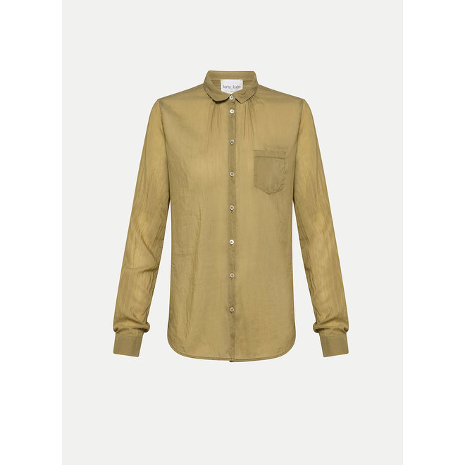 FORTE_FORTE COTTON SILK VOILE POCKET SHIRT KHAKI
