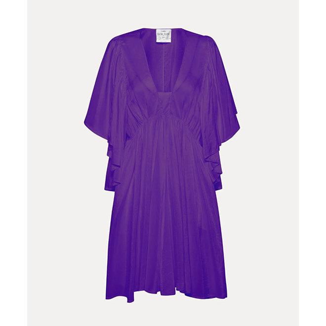 FORTE_FORTE HABOTAI SILK SHORT DRESS VIOLA