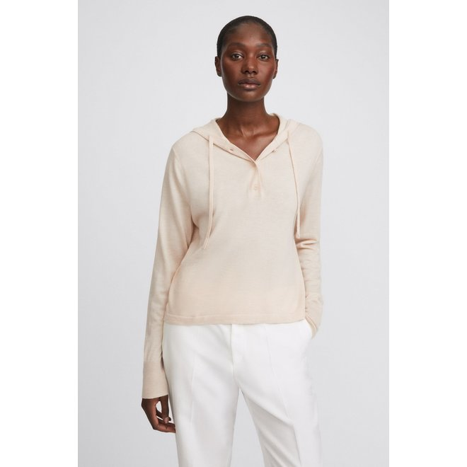 FILLIPA K CHIARA KNITTED HOODIE SOFT BEIGE