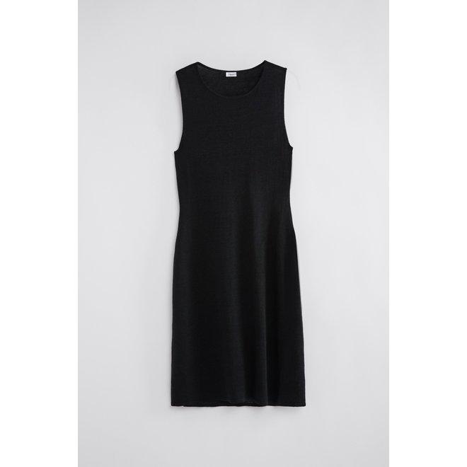FILLIPA K PATRICIA LINEN DRESS BLACK