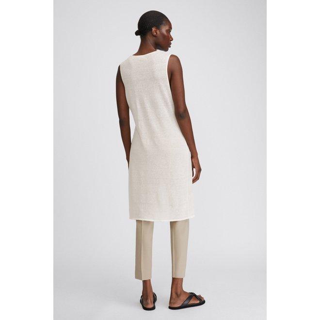 FILLIPA K PATRICIA LINEN DRESS WHITE CHAL