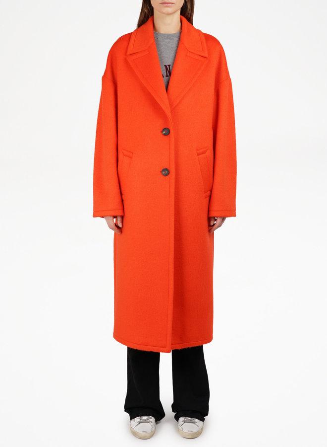 GOLDEN GOOSE COAT BERTINA 2B/CLOTH TANGERINE TANGO