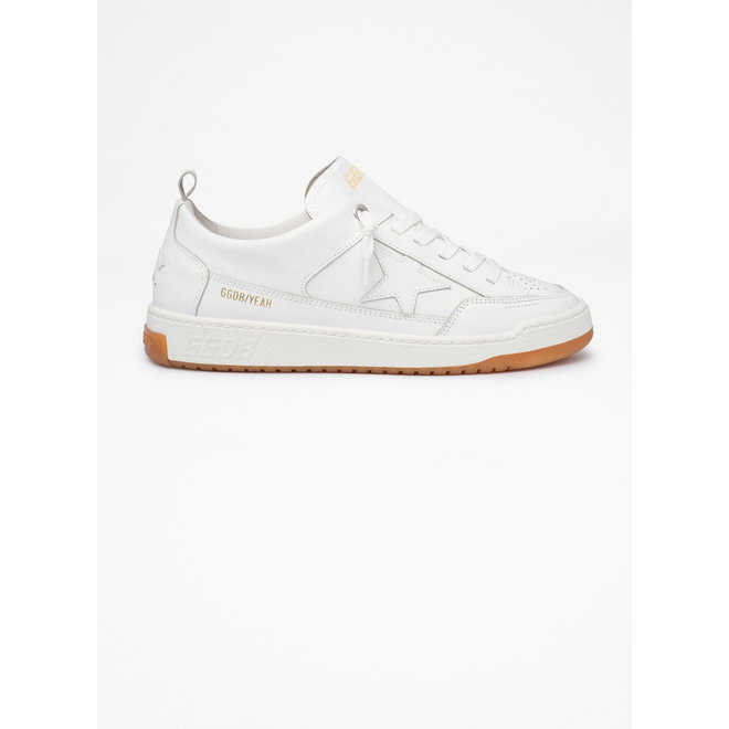 GOLDEN GOOSE YEAH LEATHER UPPER AND STAR OPTIC WHITE