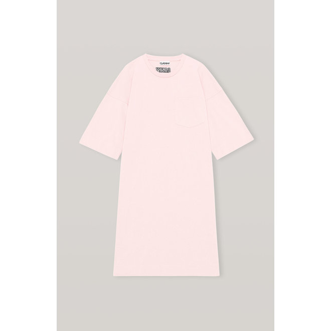 GANNI SOFTWARE JERSEY DRESS SWEET LILAC T2787