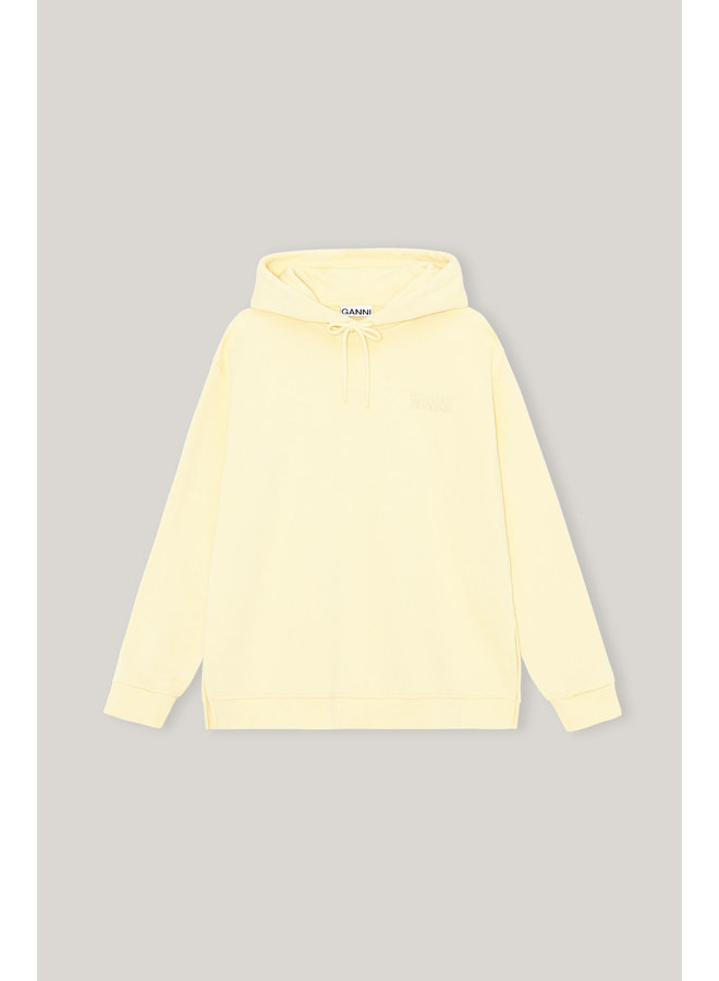 GANNI SOFTWARE ISOLI HOODIE ANISE FLOWER T2911