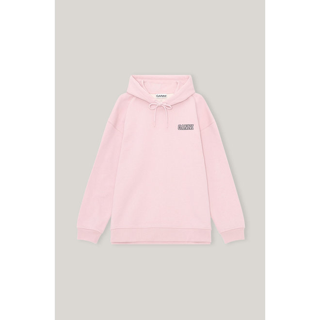 GANNI SOFTWARE ISOLI HOODIE SWEET LILAC T2923