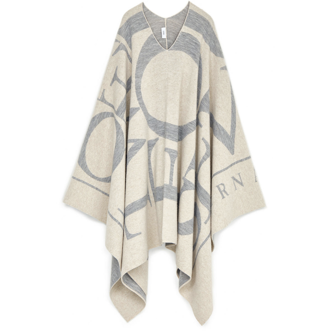 CLOSED KNITTED PONCHO ALMOND CREAM C90886-926-SI