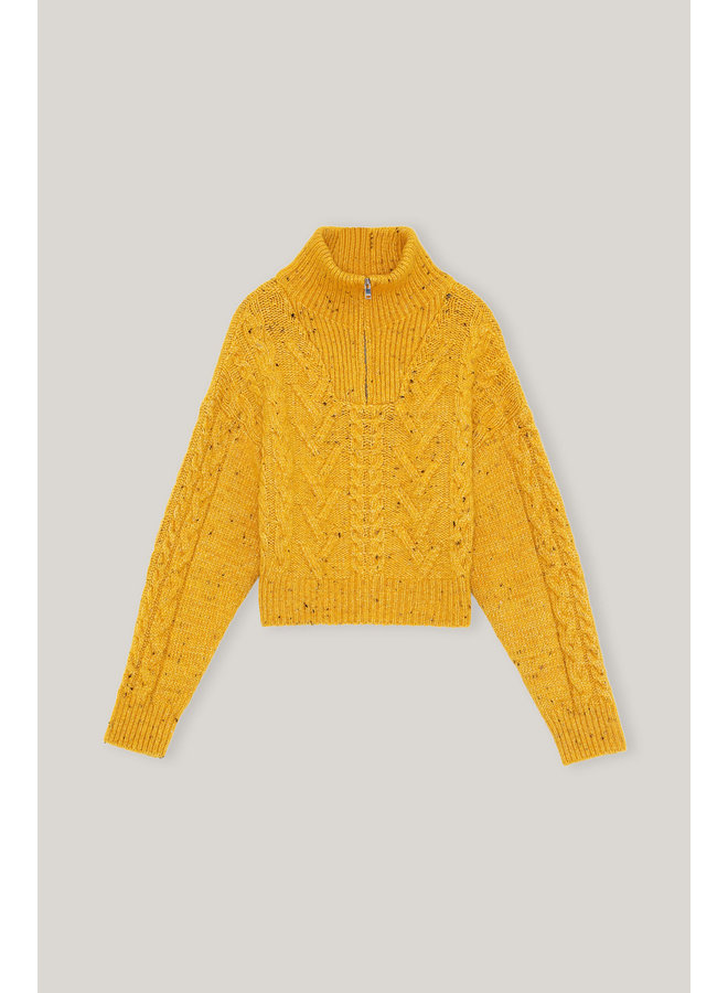 GANNI CABLE KNIT SPECTRA YELLOW