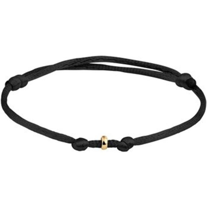 Armband geelgoud/satijn (47.00126)